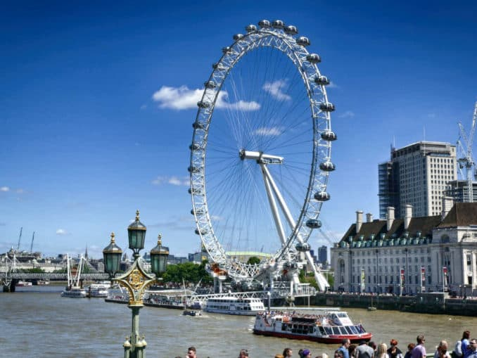London Eye Riesenrad an der Themse